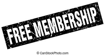 square grunge black free membership stamp