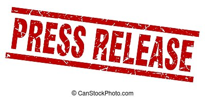square grunge red press release stamp