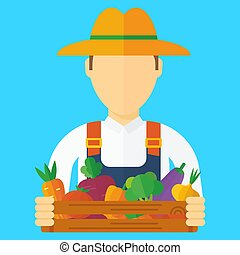 farmer man with vegetables