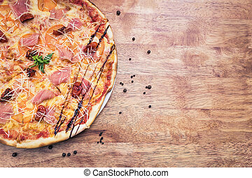 Delicious traditional pizza