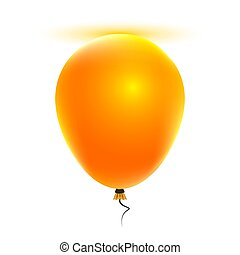 Orange helium balloon - Orange helium ball, vector art...