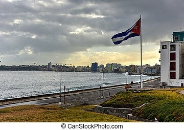 Malecon - Havana, Cuba - The Malecon (officially Avenida de...