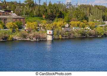 DNIPRO HYDROELECTRIC STATION - View on the DNIPRO...