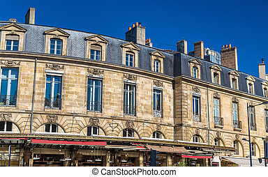 Buildings in the historic centre of Bordeaux, France -...
