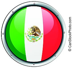 Icon design for Mexico flag