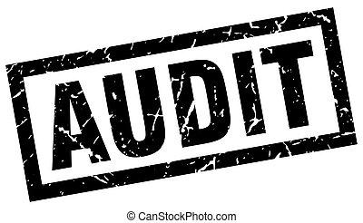 square grunge black audit stamp