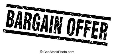 square grunge black bargain offer stamp