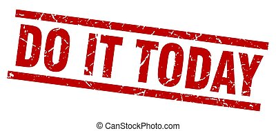 square grunge red do it today stamp