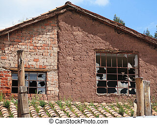 Old house, City of Cuzco in Peru