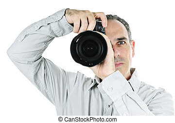 Photographer with camera