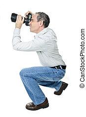 fotógrafo, cámara