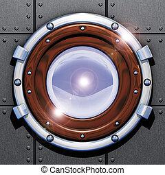Porthole - Illustration 3D, cargo and portholes