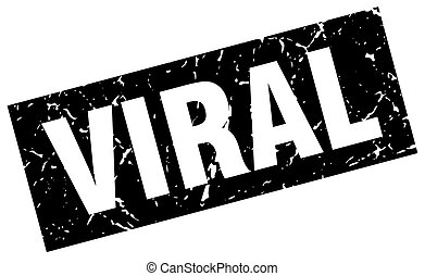 square grunge black viral stamp