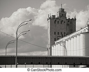 Grain elevator - Photo of an old abandoned grain elevator in...