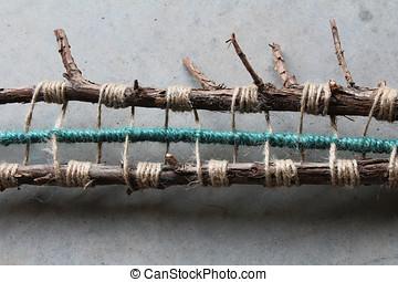 Nature art sculpture string art