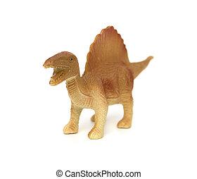 marrón, blanco, juguete,  spinosaurus, Plano de fondo