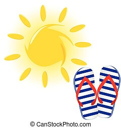 blue and white flip flop vector illustration