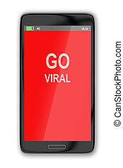Go Viral concept - 3D illustration of 'GO VIRAL' title on...