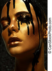 high fashion poison - Beauty provocation. Body painting...
