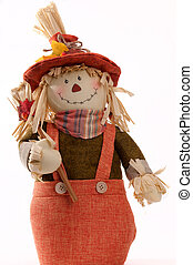 Fall Decoration Of A Stuffed Decorative Scarecrow For...