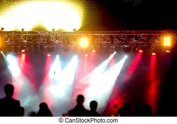 spotlights at concert