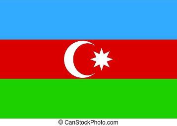 The flag of Azerbaijan - Flag of Azerbaijan. Vector...