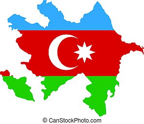 Map of Azerbaijan - map of Azerbaijan with the image of the...