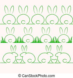 cute rabbits or bunnys - Very high quality original trendy...