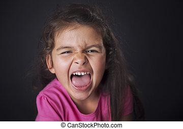 Shouting little girl
