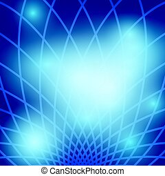 bright abstract background with blue grid - vector