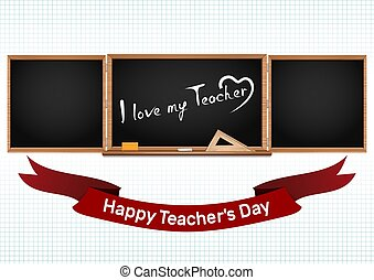Happy National Teachers Day. Greeting card