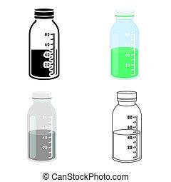 Mixture icon cartoon. Single medicine icon from the big medical, healthcare cartoon.
