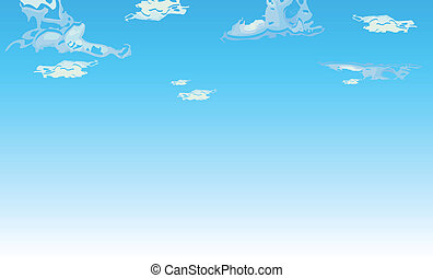blue sky with cloud illustration