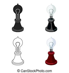 Edison's lamp icon in cartoon style isolated on white...