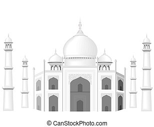 The building is in the style of the Taj Mahal temple. The...