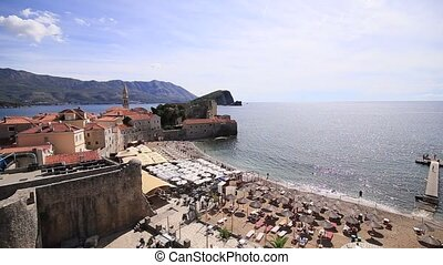 The Old Town of Budva, Montenegro, Adriatic - The Old Town...