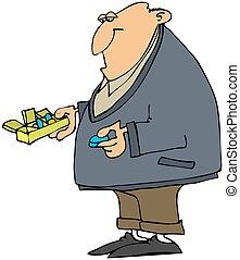 Man Taking His Pills