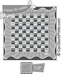 Follow the smile Black white