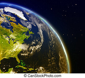 East coast of North America from space