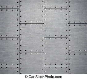 metal background with rivets 3d illustration