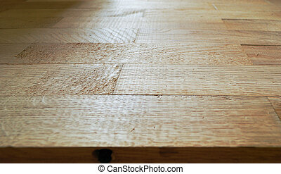 parquet boards, executed from an oak
