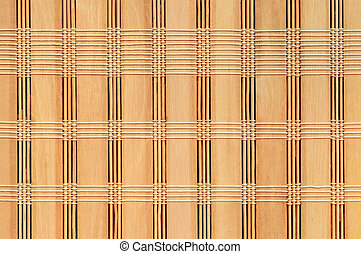 woven bamboo background - woven bamboo mat as a simple...