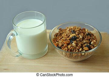 Musli and milk