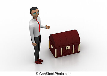 Man with money box