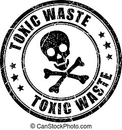 Toxic waste rubber stamp - Toxic waste rubber vector stamp