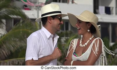 Married Couple Laughing And Having Fun