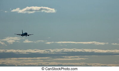 On final approach. - Boeing-737 on final approach. Airport...