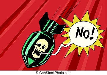 Bomb with skull of the skeleton scream no. Comic book...