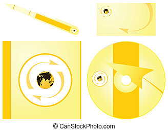 Corporate style in gold tones of colour. A vector illustration