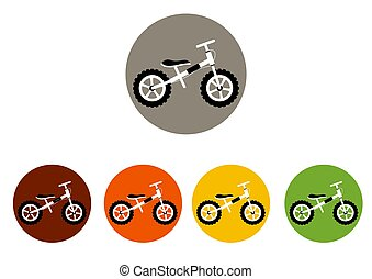 set of  colorful icons for bicycles ,sport,vector illustration